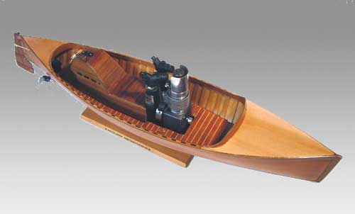wooden stirling engine boat