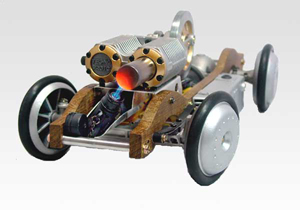 front view of stirling engine rc car